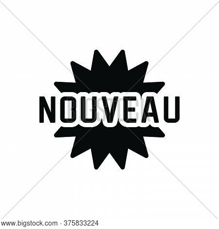 Black Solid Icon For Nouveau Newest New Latest Recent Mordern