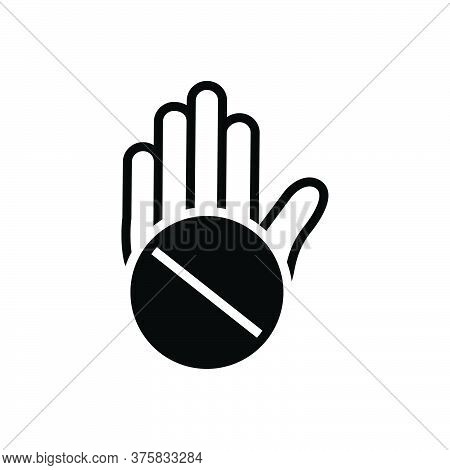 Black Solid Icon For Objection Convulsions Exception Slander Exclusion Denigration Mudslinging