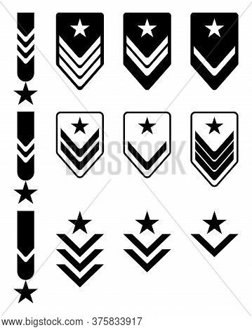 Set Of Military Rank And Reward Medal Icon Simple Vector Sign And Modern Symbol Set Of Military Rank
