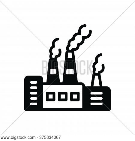 Black Solid Icon For Pollutant Polluted Toxic Environmental Carcinogen Chemicals Factory Polluted-ai