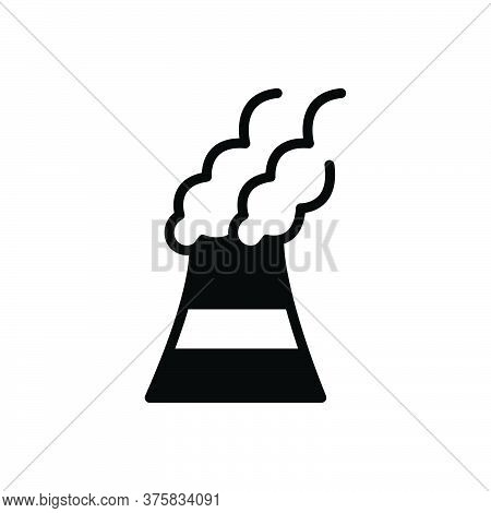 Black Solid Icon For Pollutants Pollutant Polluted Toxic Environmental Harmful Chemicals Factory Pol