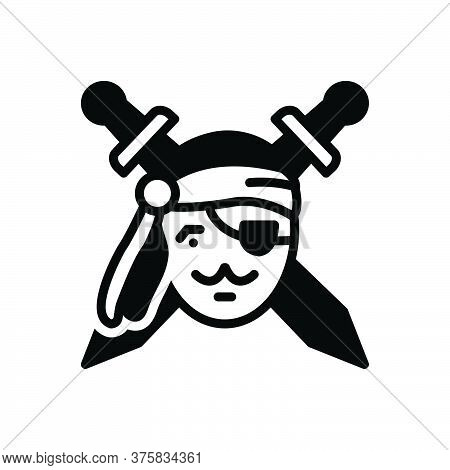 Black Solid Icon For Piratebay Buccaneer Robber Deck Saber Thief Buccaneer Captain Weapon Notorious