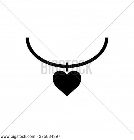 Necklace Icon Flat Vector Template Design Trendy