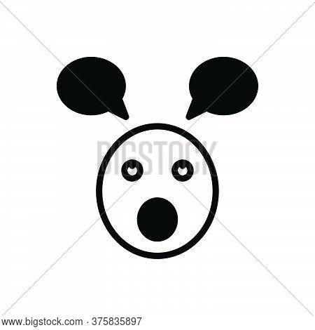 Black Solid Icon For Parakeet Foolish Stupid Silly Unwise Emoji