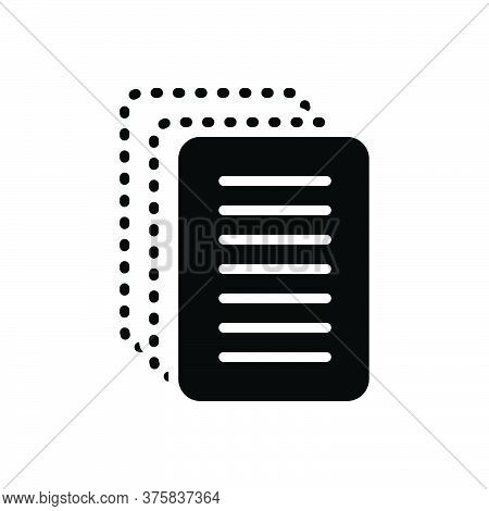 Black Solid Icon For Paperless Cardboard Disposable Insubstantial Paper-thin Papery Wafer-thin Paper
