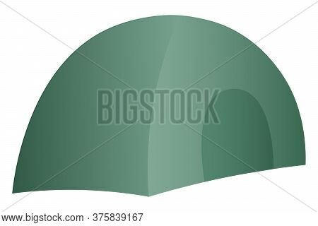 Camping In The Forest. Vector Illustration. Isolated White Background. Tent. Travel Conditions. Loca