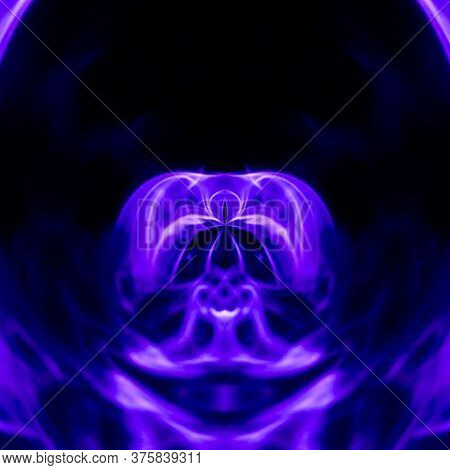 Meditating Gautama Buddha Spirit - Particles, Polygonal, Geometric Art - Meditation Abstract Illustr