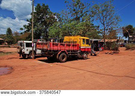 Arusha / Tanzania - 04 Jan 2017: The Car In The Village In Tanzania, Africa