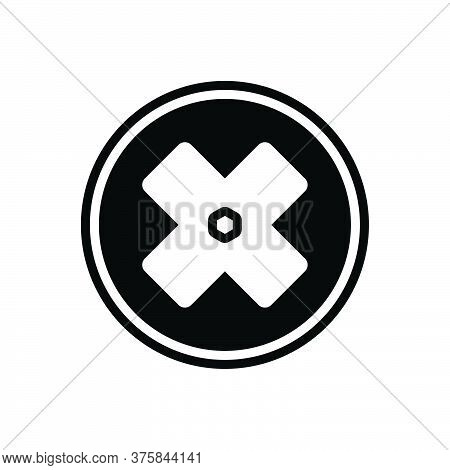 Black Solid Icon For Failure Fiasco Hoodoo Multiplied Cross Delete Mathematical Sign Mark Geometric