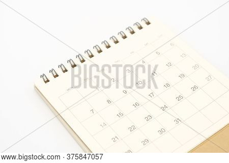 A Calendar Of The Month. Using As Background Business Concept And Planning Concept With Copy Spaces