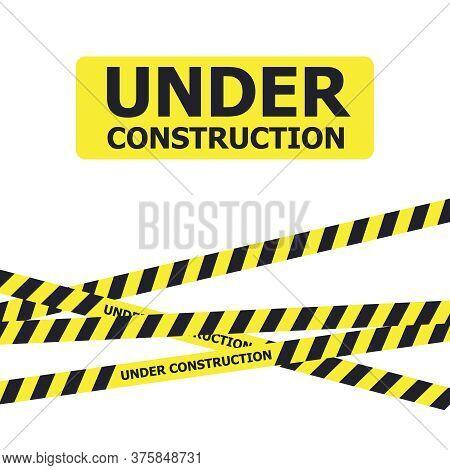 Under Construction Website Page. Under Construction Warning Banner