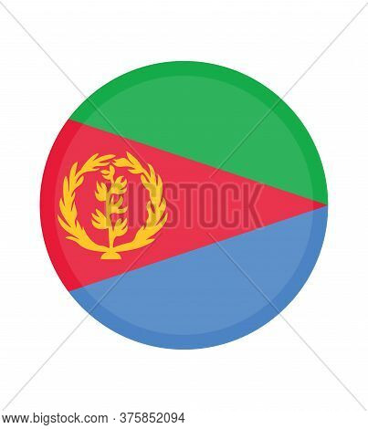 National Eritrea Flag, Official Colors And Proportion Correctly. National Eritrea Flag.