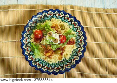 Harissa Veg, Goat's Cheese And Couscous Salad