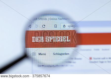Moscow, Russia - 1 June 2020: Der Spiegel Website With Logo , Illustrative Editorial