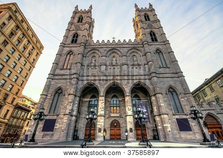 The Notre-Dame Basilica In Montreal.