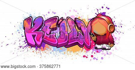 Keily. A Cool Graffiti Styled Logotype Design. Legible Letters Aimed For A Wide Range Audience Of Al