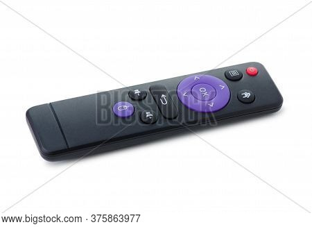 Remote Control Tv On White Background Isolation