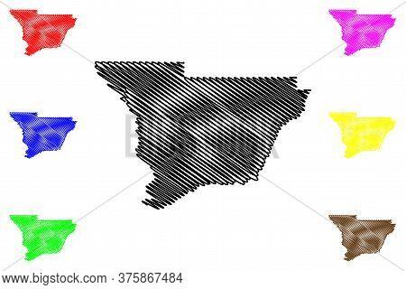 Muscogee County, Georgia (u.s. County, United States Of America,usa, U.s., Us) Map Vector Illustrati