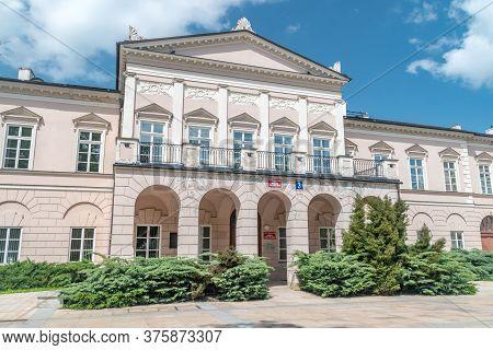 Lublin, Poland - June 11, 2020: Political Science Faculties At Maria Curie-sklodowska University.