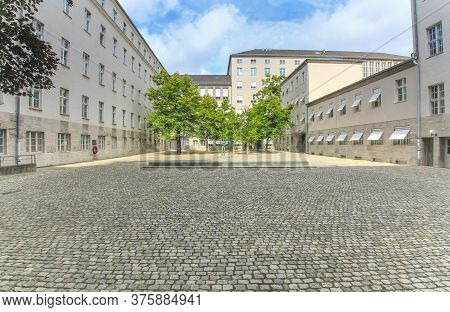 Berlin, Germany - June 22, 2015: Memorial To The German Resistance.the Courtyard In The Bendlerblock