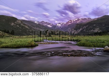 Summer Sunrise In Moraine Park, Rocky Mountain National Park