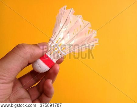A Shuttlecock Is A High-drag Projectile Used In The Sport Of Badminton