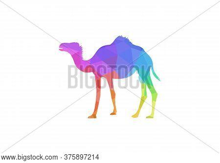 Camel Graphic Icon. Camel Black Sign Isolated On White Background. Camel Symbol Of Desert