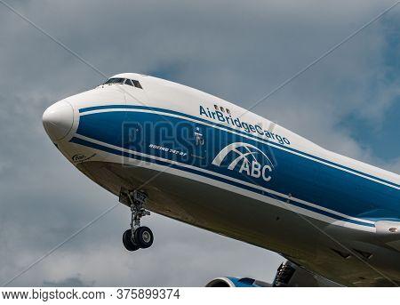 Air Bridge Cargo Boeing 747-8f Arrival In Frankfurt, Germany
