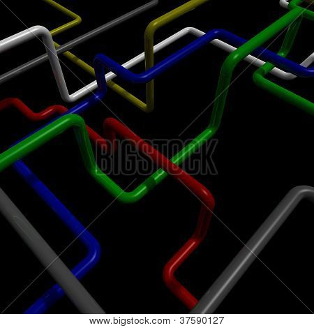 Interlocking Colored Tubes