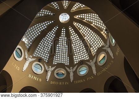 Bethlehem, Israel - January 28, 2020 - View From Inside The Dome Of The Church In The Field Of Sheph