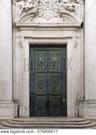 Door Of The Church Of Santa Maria Assunta - The Jesuits, Venice, Italy