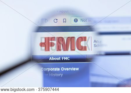 Moscow, Russia - 1 June 2020: Food Machinery And Chemical Corporation Fmc Website With Logo , Illust