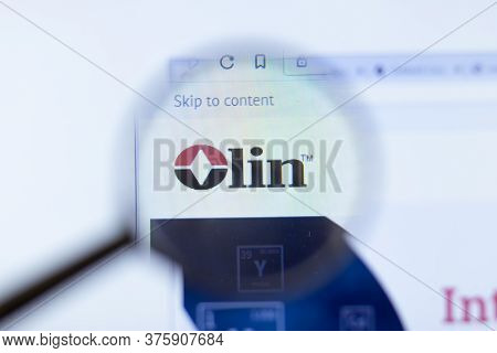 Moscow, Russia - 1 June 2020: Olin Corporation Website With Logo , Illustrative Editorial.