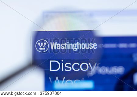 Moscow, Russia - 1 June 2020: Westinghouse Electric Corporation Website With Logo , Illustrative Edi