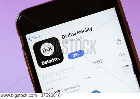 Moscow, Russia - 1 June 2020: Digital Reality App Logo On Smartphone, Illustrative Editorial.