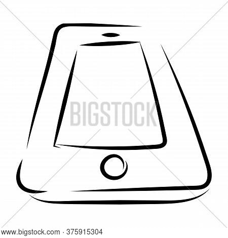 Hand Drawn Hand Footprints On White Background. Vector Illustration.
