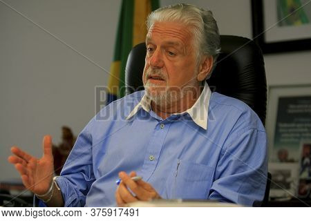 Salvador, Bahia / Brazil - December 27, 2013: Jaques Wagner, Governor Of Bahia Is Seen At The Headqu