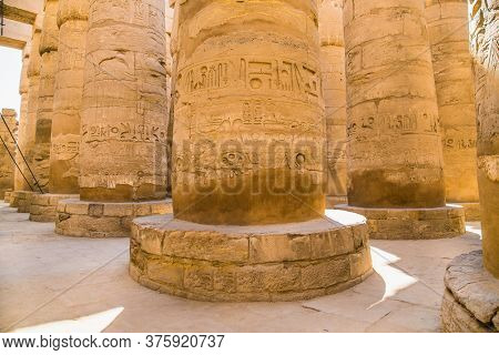 Luxor Temple in Luxor, ancient Thebes, Egypt. Luxor Temple is a large Ancient Egyptian temple complex located on the east bank of the Nile River.