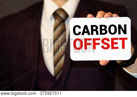 Word Writing Text Carbon Offset. Business Concept For Reduction In Emissions Of Carbon Dioxide Or Ot