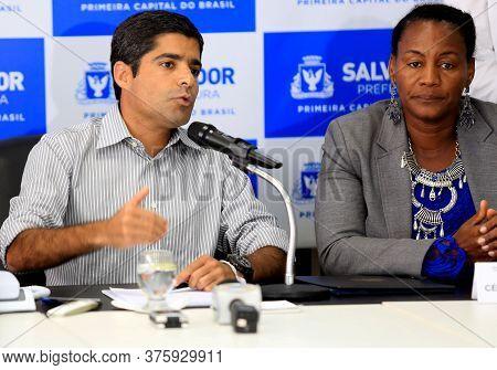 Salvador, Bahia / Brazil - January 21, 2016: Acm Neto, Mayor Of Salvador And Celia Sacramento, Deput