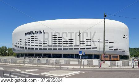 Bordeaux , Aquitaine / France - 07 07 2020 : Arkea Arena Is The New Big Hall Of The Bordeaux Metropo