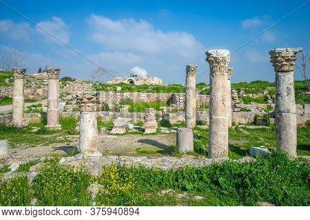 Scenery Of Byzantine Church At Amman Citadel, Jordan