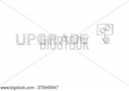 Upgrade Concept White Background 3d Render Illustration