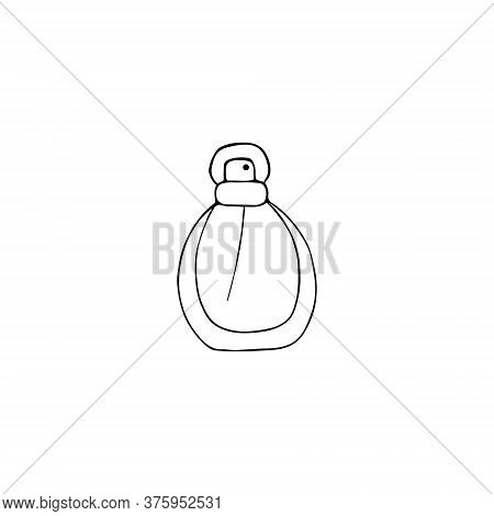 Perfume Icon. Fragrance Sign. Doodle Hand Drawn Vector Graphic