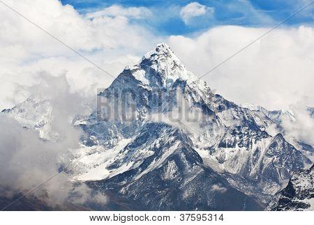 Ama Dablam peak in the Nepal Himalaya