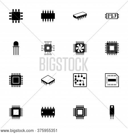 Computer Chips Icon - Expand To Any Size - Change To Any Colour. Perfect Flat Vector Contains Such I
