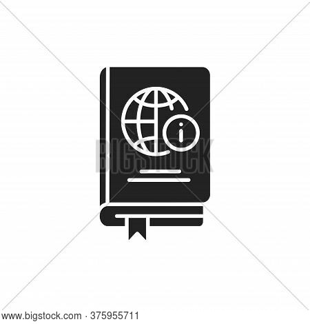 Encyclopedia Black Glyph Icon. Summaries Of Knowledge Either From All Branches Or From A Particular