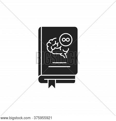 Philosophy Book Black Glyph Icon. The Study Of General And Fundamental Questions About Existence, Kn