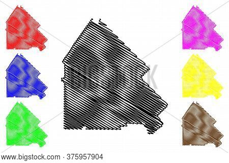 Pulaski County, Georgia (u.s. County, United States Of America,usa, U.s., Us) Map Vector Illustratio