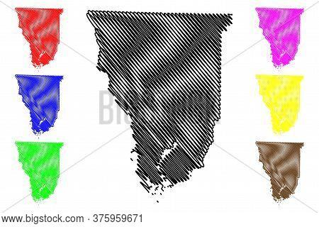 Seminole County, Georgia (u.s. County, United States Of America,usa, U.s., Us) Map Vector Illustrati